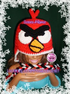 Red Angry Birds crochet Hat https://www.etsy.com/your/shops/MyMagicCrochetUS