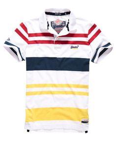 Superdry College Stripe Polo Shirt