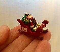 Un preferito personale dal mio negozio Etsy https://www.etsy.com/it/listing/567487091/casa-delle-bambole-miniature-slitta