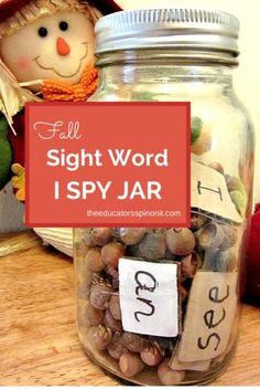EASY Sight Word classroom Games for learning PLUS an additional 10 bonus activities for learning science, math, and literacy with Nuts and Seeds: A FREE PRESCHOOL Unit!