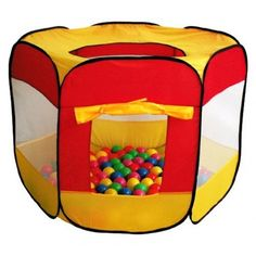 100-Pit-Ball Play Tent Popup