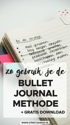 Bullet journal methode: wat is het en hoe begin je ermee? Bullet Journal Hacks, Bullet Journal How To Start A, Bullet Journal Spread, Bullet Journal Layout, My Journal, Bullet Journals, Passion Planner, Planning Your Day, Verse
