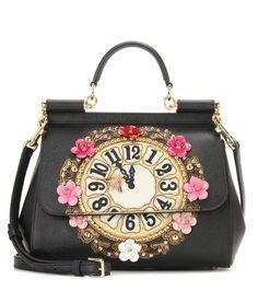 Dolce & Gabbana - Miss Sicily Medium embellished leather shoulder bag… Dolce And Gabbana Sale, Dolce And Gabbana 2016, Dolce And Gabbana Purses, Leather Purses, Leather Handbags, Shoulder Handbags, Shoulder Bags, Fashion Sale, Real Leather