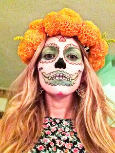 Dia de Los Muertos makeup, inspired by the Prayer in C music video by Lilly Wood & The Prick and Robin Schulz. #nikkinearandfar #diadelosmuertos #sugarskull