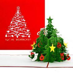 Klappkarte mit Pop-Up Weihnachtsbaum - der besondere Weihnachtsgruß für besondere Menschen. :-)