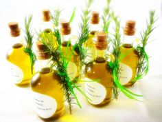 Wedding favors Olive oil and rosemary