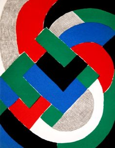 Composition with green and blue by Sonia Delaunay (Sarah Ilinitchna Stern) (1885-1979, Ukraine)