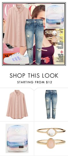 """""""Untitled #33"""" by malina-dobrescu ❤ liked on Polyvore featuring Uniqlo, JanSport and Accessorize"""