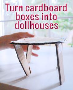 Using Cardboard Boxes to Create Custom Dollhouses