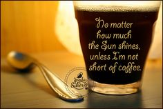 No matter how much the Sun shines, unless I'm not short of coffee. #solareclipse  #eclipse #coffee / http://instantmlm.eu/
