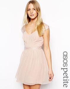 ASOS PETITE Exclusive Eyelash Lace Skater Dress