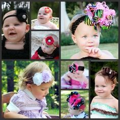 Shop for The Best Baby Headbands and Baby Girl Bows and Headbands, Rompers, and Tutus for babies! Affordable Boutique Hair Bows for Baby and Girls! Girl Hair Bows, Baby Girl Headbands, Girls Bows, Baby On The Way, How To Make Bows, Cute Kids, Gifts For Kids, Hairbows, Manualidades