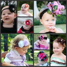 Baby Headbands-Baby Bow Headbands-Baby Girl Headbands-Girls Hair Bows-Baby Girl Headbands
