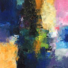 "Small Box Painting 1105 22.7 cm × 22.7 cm (app. 8.9"" x 8.9"") Oil on plywood panel  © 2015 Hiroshi Matsumoto"