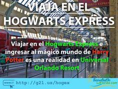 Si has leído los libros o visto las películas de Harry Potter Universal Orlando Resort te permite viajar en el tren Hogwarts Express y así empezar a conocer el mágico mundo de este personaje ==> http://g2l.us/hogex