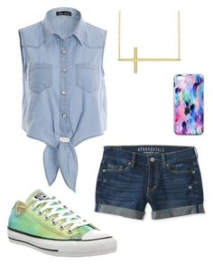 """""""At the Mall With BFFs"""" by cake9 ❤ liked on Polyvore featuring moda, Aéropostale, Converse, Allurez e Nikki Strange"""
