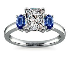 Radiant Oval Sapphire Gemstone Engagement Ring in Platinum  http://www.brilliance.com/engagement-rings/oval-sapphire-gemstone-ring-platinum
