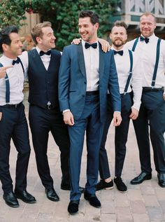 Dapper groom and his guys: http://www.stylemepretty.com/little-black-book-blog/2016/07/13/soap-opera-stars-wedding-better-than-any-daytime-tv-love-story/ | Photography: Sarah Kate - http://sarahkatephoto.com/
