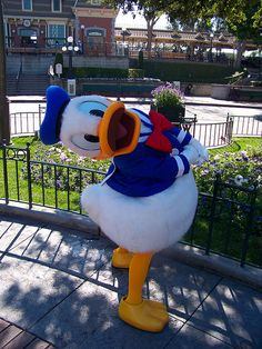 Donald poses in Town Square