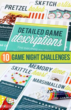 10 fun games!!  This would be a blast.