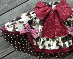 Western Cowgirl Pageant Poofy Skirt and Halter Top Set: Halloween cowgirl toddler costume