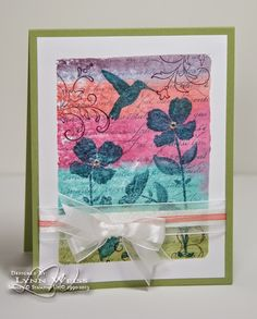 LW Designs: Wildflower Meadow with Watercolor Background