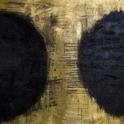 Black Planets, Painting by Marita Liulia