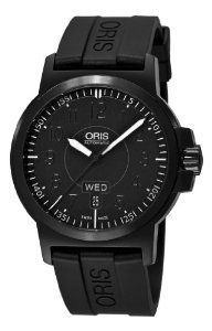 Oris Men's 73576414764RS BC3 Sportsman Day Date Black DLC Case and Rubber Strap Watch Oris. $1155.91. •Automatic movement•Black rubber strap•Black day date dial•Pin buckle•Water-resistant to 330 feet (100 M). Save 23%!