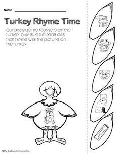November Print - That's it! Kindergarten Math and Literacy Printables SAMPLER