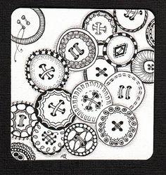 Button Zentangles❤❤