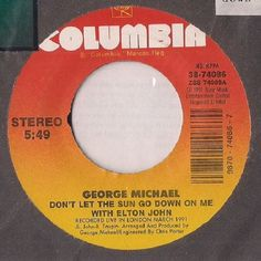 George Michael With Elton John Don't Let The Sun by Acvintagevinyl