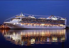 Caribbean Princess--Sailed on this ship in an aft balcony room in May 2004 after graduating college--Pure Bliss!!!  :-}