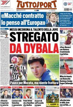 Rassegna Stampa Italia: Paura Morata, stasera l'Italia in campo - http://www.maidirecalcio.com/2015/10/10/rassegna-stampa-italia.html