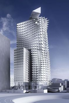 Austrian architects Coop Himmelb(l)au are to be awarded the Sustainability Award of the 2010 MIPIM Architectural Review Future Project Awards for their tower covered in a folded metal skin, designed for the Erdberg area of Vienna. @designerwallace