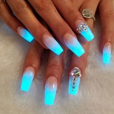 Can't wait to do this ... Glow in the dark ombré