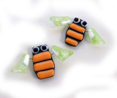 Cute fused glass fridge magnets by Julia Rezinsky, via Behance