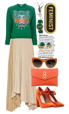 """Because a feminist is a woman too"" by felicitysparks ❤ liked on Polyvore featuring Kenzo, Mulberry, Dolce&Gabbana, Nasty Gal, Gucci, Yves Saint Laurent and Stephen Webster"