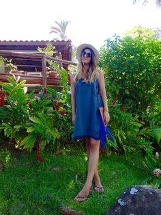 look-do-dia-xaa-blue-canal-lele-gianetti-lele gianetti it yourself blog fashion ootd outfit panama hat jeans destroyed dress blue