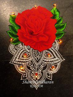 #rose#mandala#kolam#rangoli#red