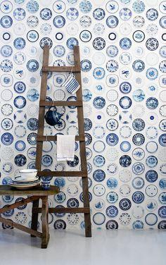 studio ditte / Porcelain wallpaper/blue