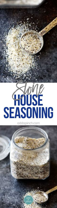 Stone House Seasoning Recipe - A quick, easy and delicious seasoning blend that adds so much flavor in a snap! // addapinch.com #recipes #stonehouseseasoning #addapinch #seasoning
