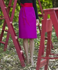 Fushia/ Pink.....Look what I found on #zulily! Pink Number 17 Skirt #zulilyfinds
