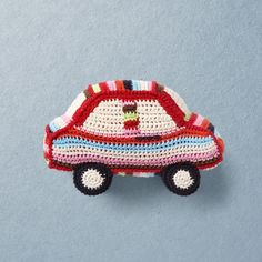 CAR Hand crochet car in bio cotton with bell inside Crochet Car, Hand Crochet, Crochet Toys, Claire, Organic Cotton, Hats, Handmade, Crocheted Toys, Hand Made