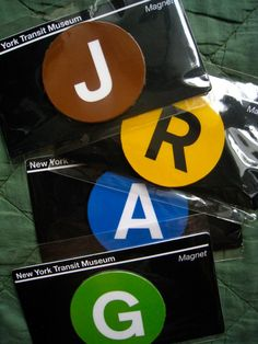 New York Subway themed party magnet favors