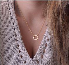 XA139 Chaude Mode Or couleur Cercle Pendentif Collier Maxi Déclaration Collier Sautoirs Colliers Pour Les femmes Bijoux