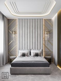 DEDE/Boutique hotel and restaurant design on Behance Modern Luxury Bedroom, Luxury Bedroom Design, Master Bedroom Interior, Bedroom Furniture Design, Home Room Design, Master Bedroom Design, Bathroom Interior Design, Luxurious Bedrooms, Bedroom Decor