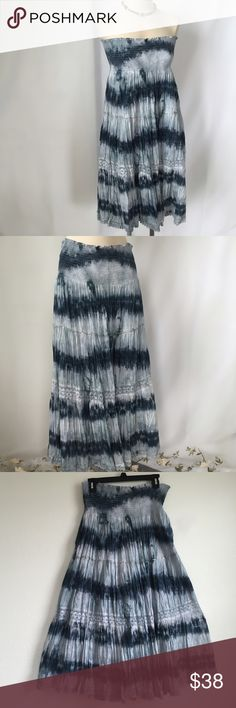 """NWT: Tie Dye Convertible Boho Dress/Skirt NWT: sequin & lace crochet detail; approx 35"""" long; boutique bought Dresses"""