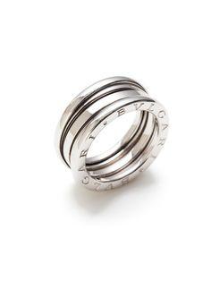 bulgari b zero white gold ridged ring by bulgari at gilt