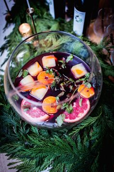 """Thank goodness that the old-school punch bowl is having a """"moment"""" again, since a huge batch of fruity, boozy punch is one of my greatest secrets to stress-free holiday entertaining. There's …"""