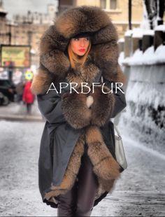 APRB Furs, fox fur lined parka
